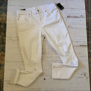 Joe's jeans rolled cuff DeStressed white jeans 30